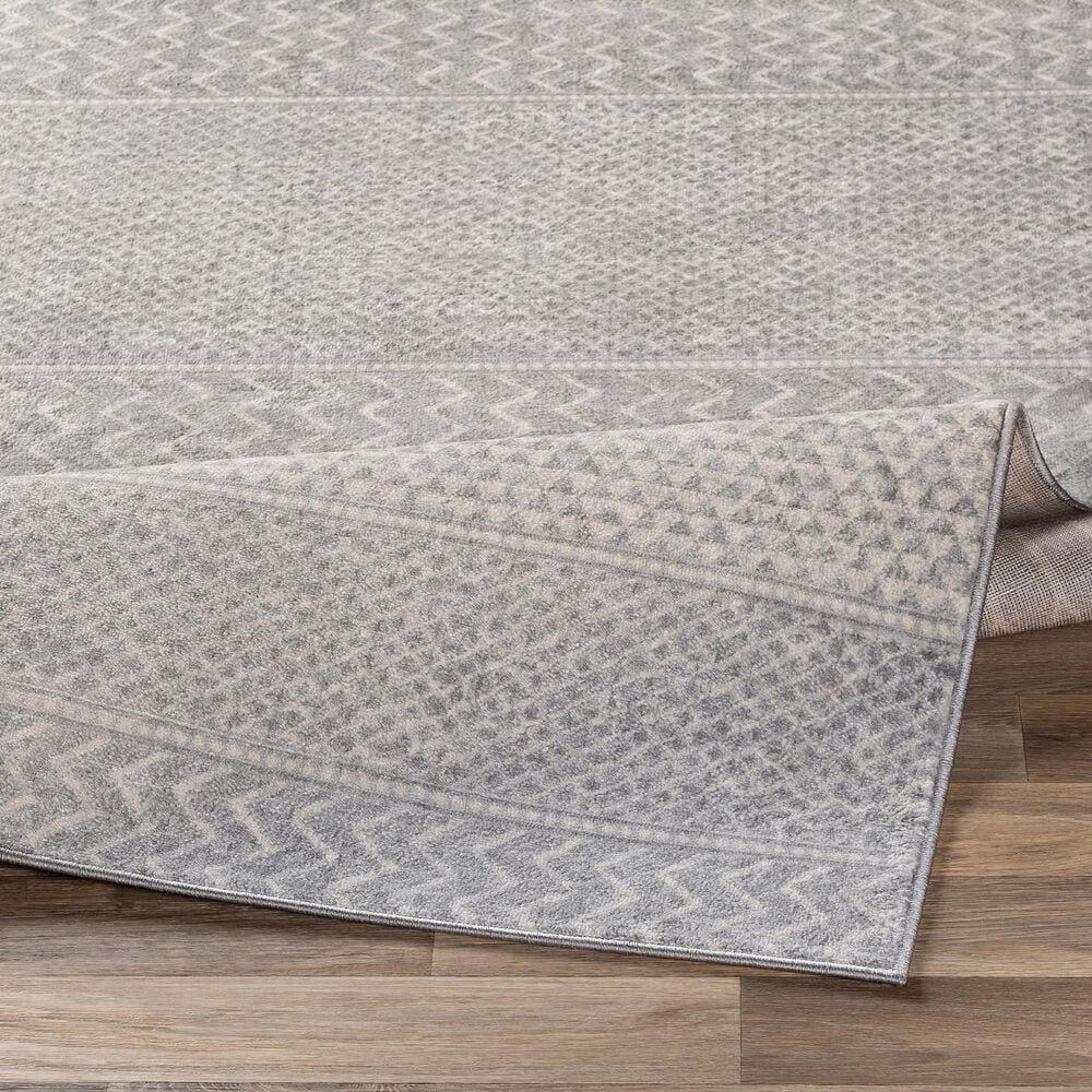 "Surya Monaco MOC-2304 7'9"" x 10'3"" Silver, Gray and Cream Area Rug, , large"