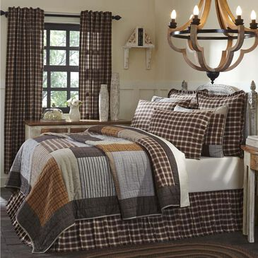 VHC Rory King Luxury Quilt in Greige, , large