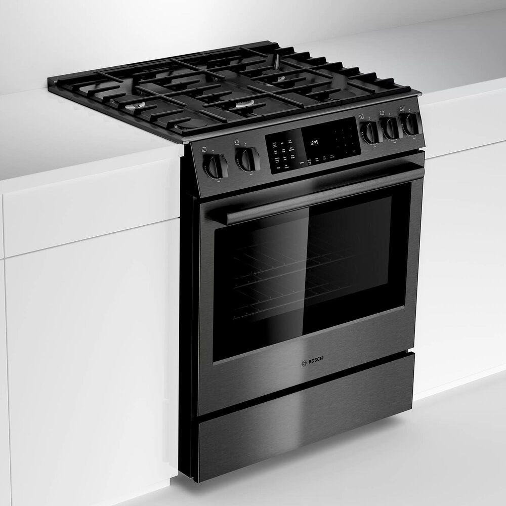 "Bosch 30"" Slide-In Gas Range in Black Stainless Steel, , large"