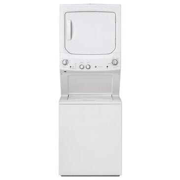 """GE Appliances 27"""" Spacemaker Stack Washer With Electric Dryer in White, , large"""