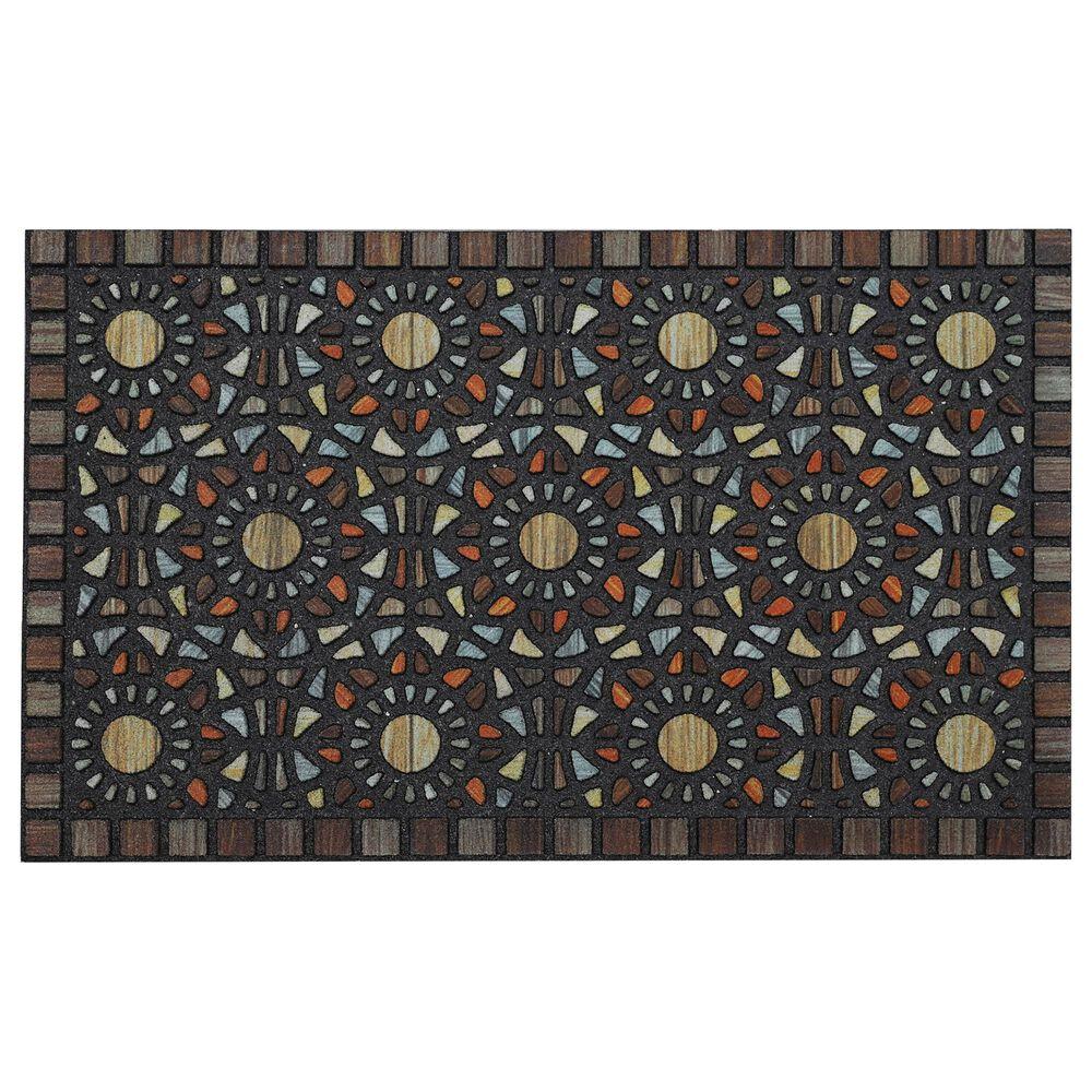 "Karastan Doorscapes Entranced Mosaic Grain 4925-18457 1'6"" x 2'6"" Brown Door Mat, , large"