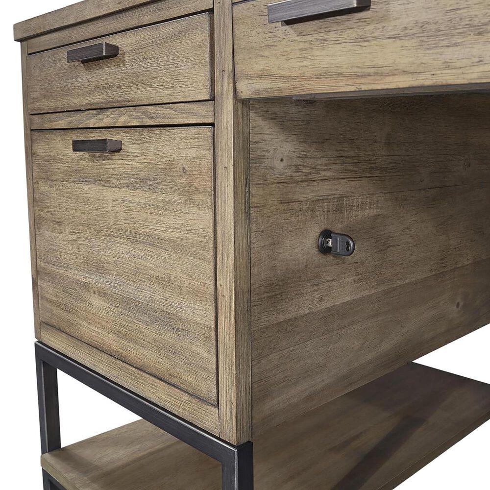 Aspen Brands Trellis Open Pedestal Desk in Desert Brown, , large