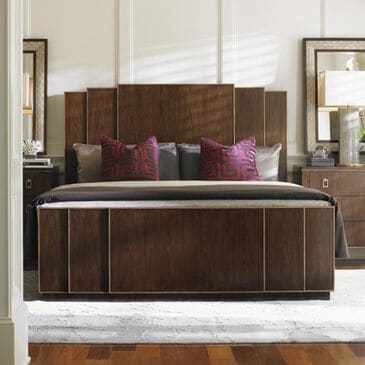 Lexington Furniture Tower Place Queen Fairmont Panel Bed in Cathedral Walnut, , large