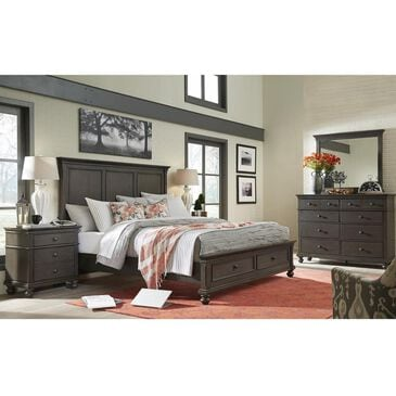 Riva Ridge Oxford 4 Piece Queen Storage Bedroom Set in Peppercorn, , large
