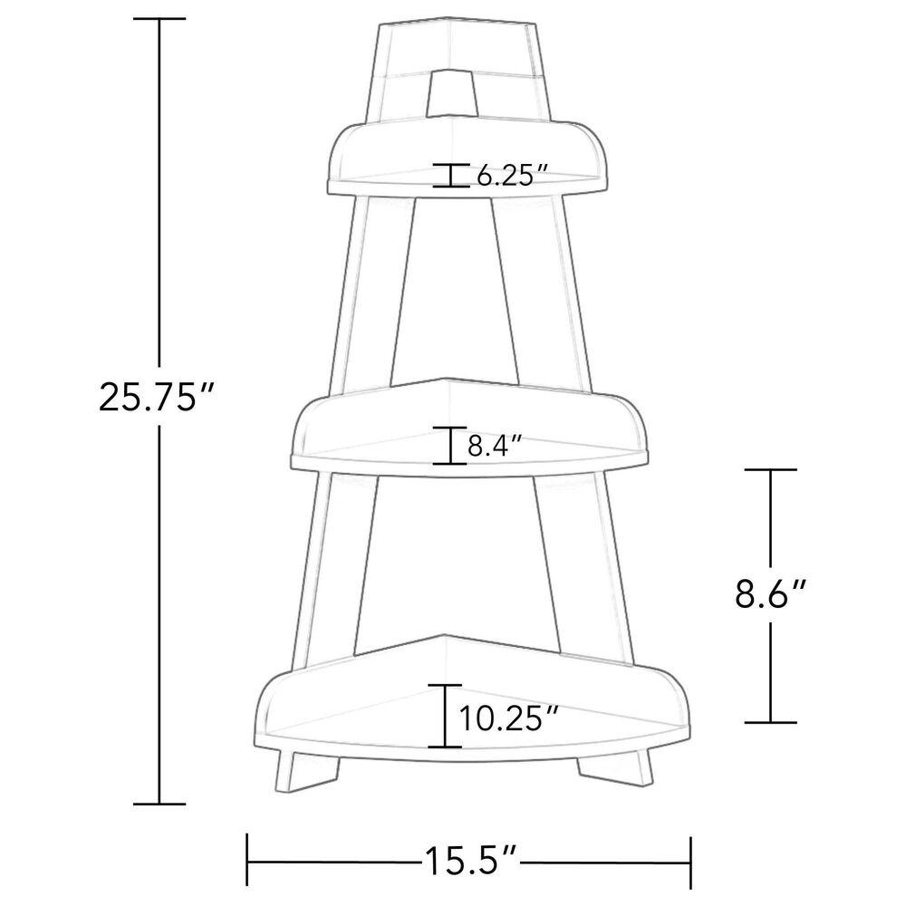 RiverRidge Home Kids Corner Ladder Wall Shelf in White, , large