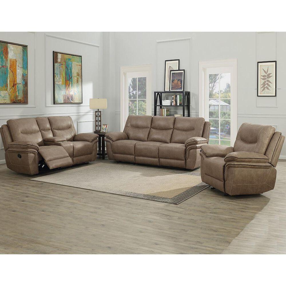 Crystal City Isabella Manual Reclining Sofa in Sand, , large