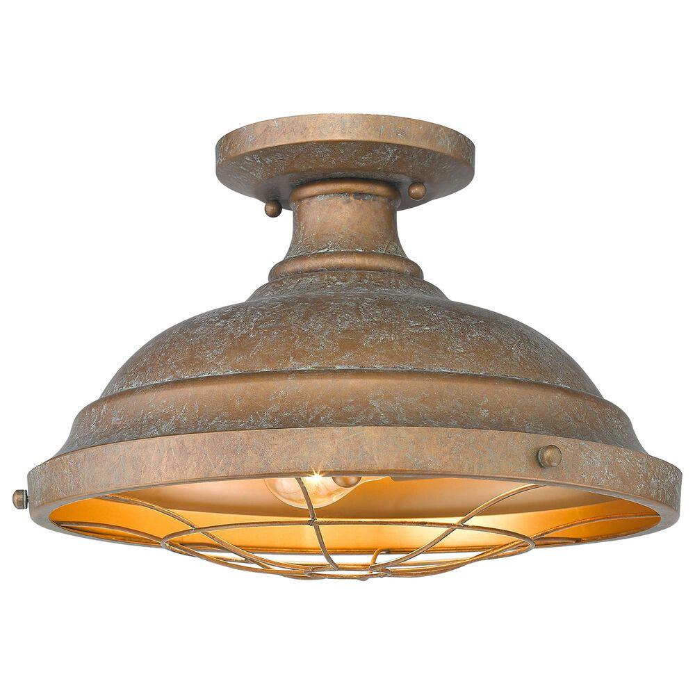 Golden Lighting Bartlett Semi-Flush in Copper Patina, , large