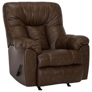Moore Furniture Connery Swivel Rocker Recliner in Florence Almond, , large