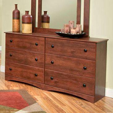 Lemoore 11000 Series 59'' 6 Drawer Dresser in Cinnamon, , large