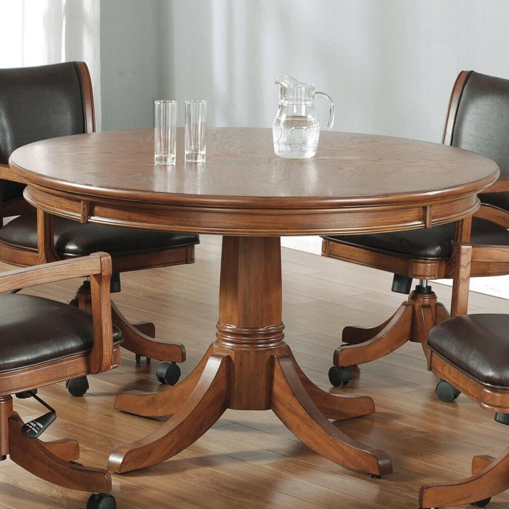 Richlands Furniture Park View Game Table in Medium Brown Oak, , large