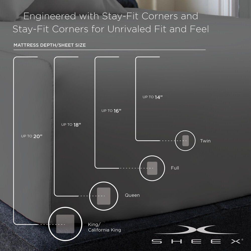 SHEEX Performance VenTech 4-Piece Queen Sheet Set in Pearl Blue, , large