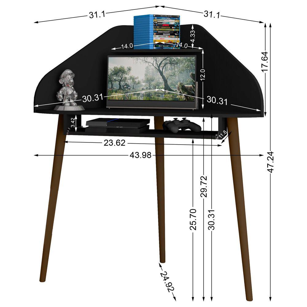 Dayton Bradley Floating Corner Desk in Black, , large