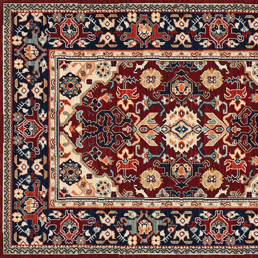 Oriental Weavers Lilihan Oriental 2062R 2' x 3' Red and Blue Scatter Rug, , large