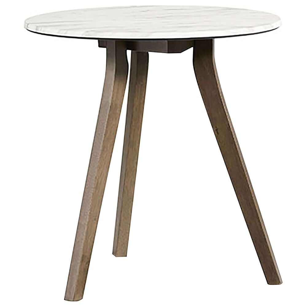 Tiddal Home Pixie End Table in Domoni White and Honey, , large
