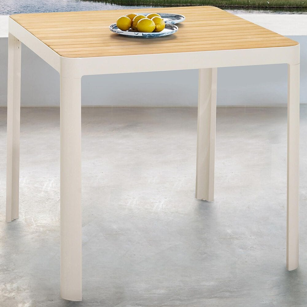 Blue River Portals Patio Bar Table in Light Sand/Teak, , large