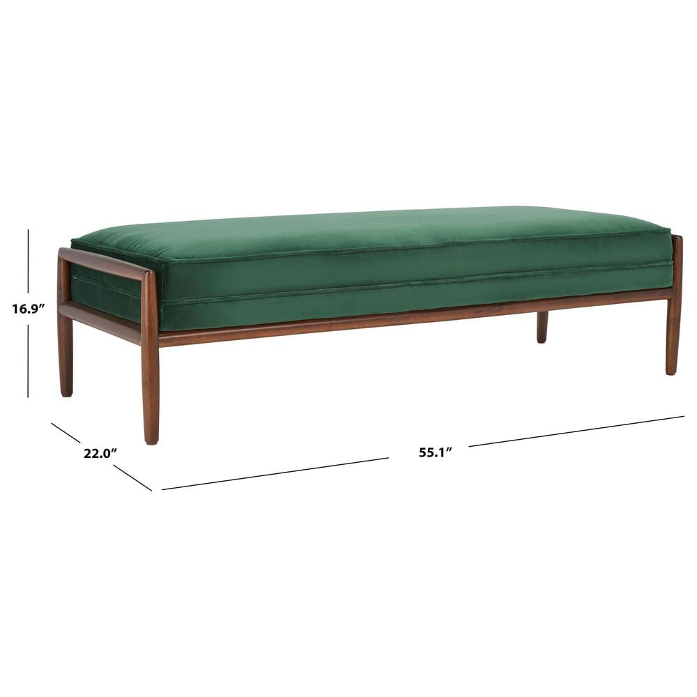 Safavieh Beatrice Bench in Forest Green, , large