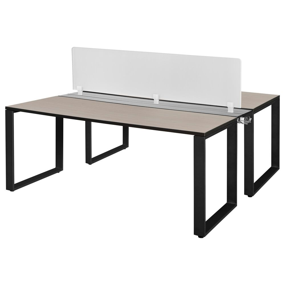 """Regency Global Sourcing Structure 72"""" x 24"""" Benching System with Divider in Maple, , large"""