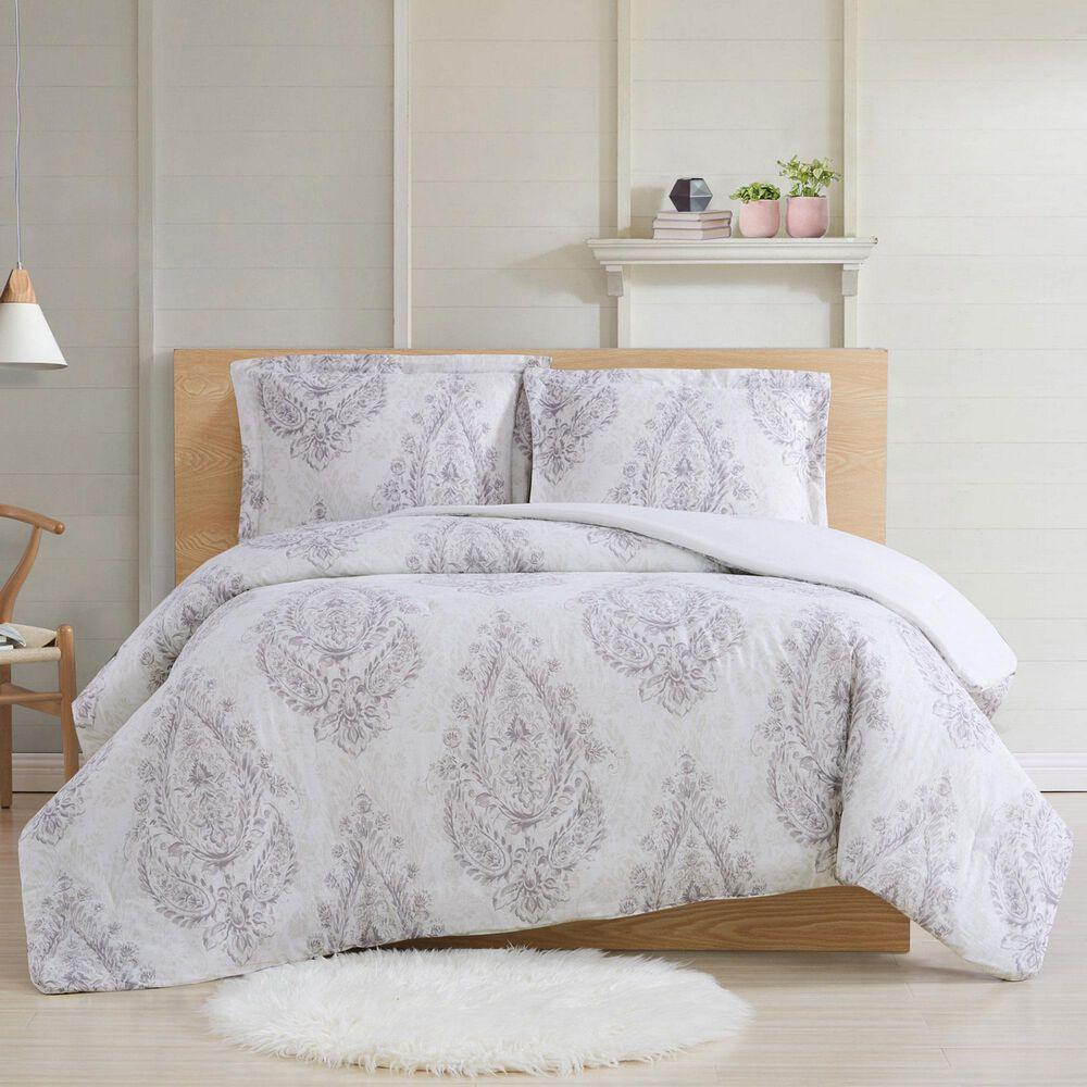 Pem America Cottage Classics Paisley 3-Piece Full/Queen Comforter Set in Purple, , large