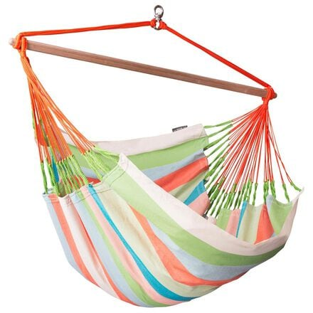 La Siesta Domingo Lounger Hammock Chair in Coral