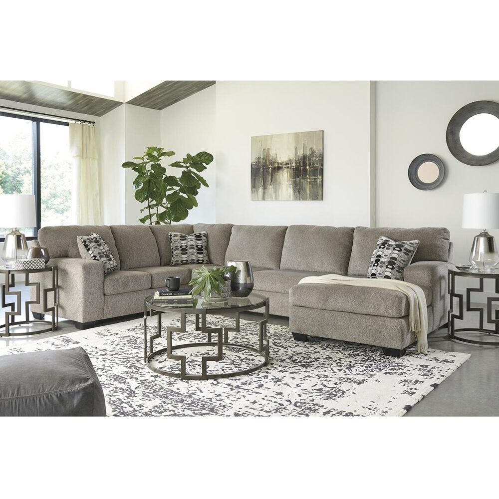 Signature Design by Ashley Ballinasloe 3-Piece Right Facing Sectional in Platinum, , large