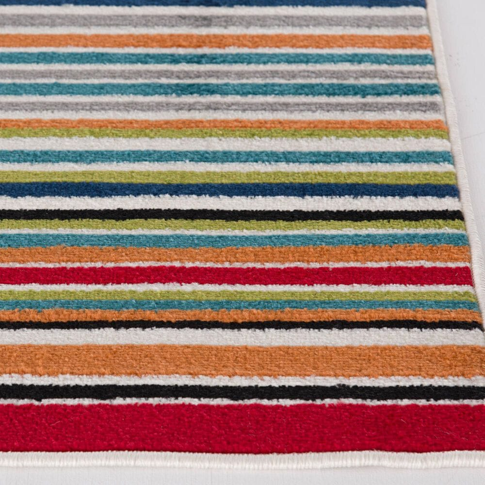"""Central Oriental Terrace Tropic Santee 2310MN.084 2'6"""" x 7'3"""" Red and Blue Runner, , large"""