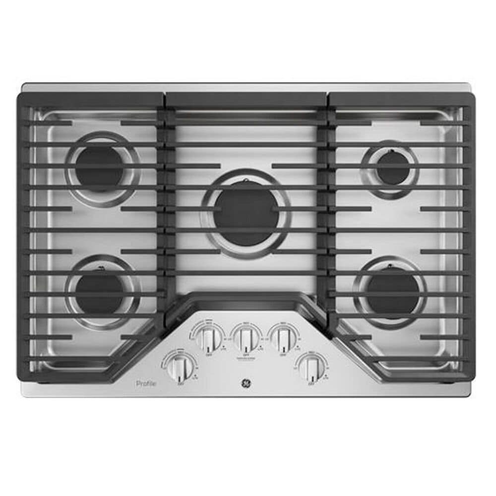 """GE Profile 30"""" Gas Cooktop with 30"""" Built-In Convection Double Wall Oven in Stainless Steel, , large"""