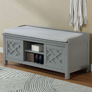 "Bolton Furniture Coventry 45"" Storage Bench in Gray, , large"