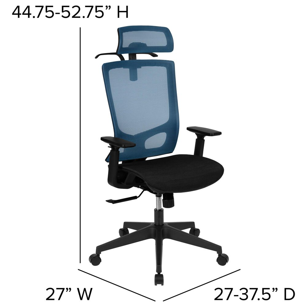 Flash Furniture Office Chair in Blue Color, , large