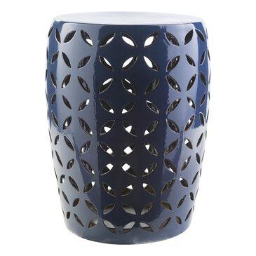 Surya Inc Chantilly Ceramic Stool  in Cobalt -  17.7''H, , large