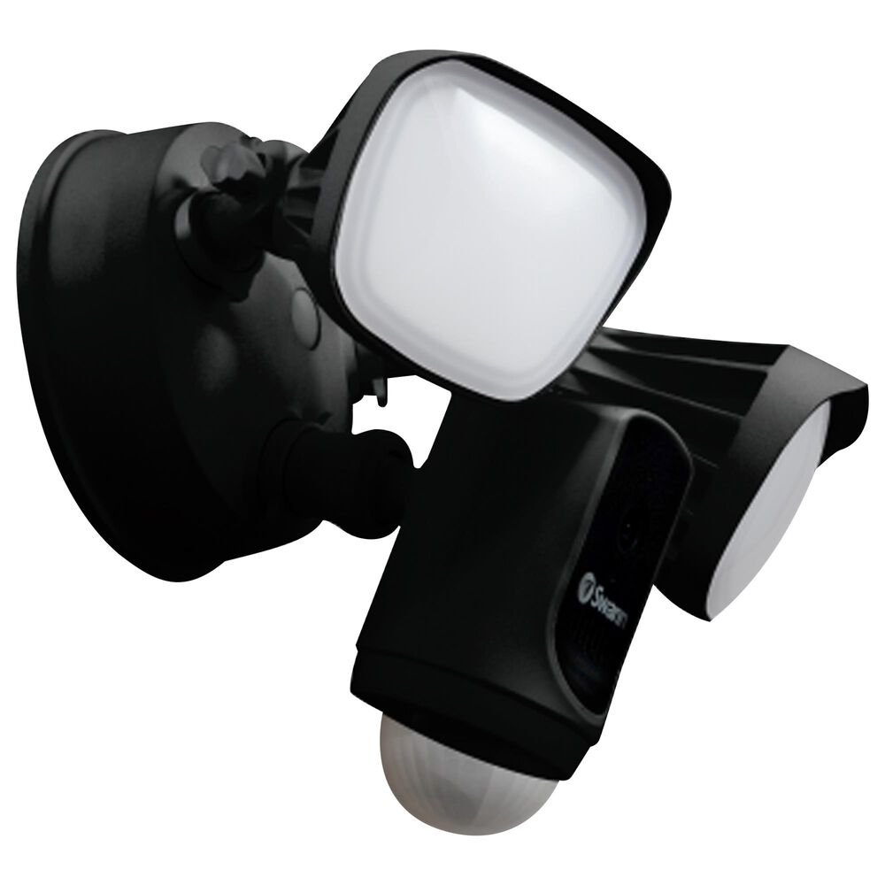 Swann Wi-Fi Floodlight Security Camera in Black, , large