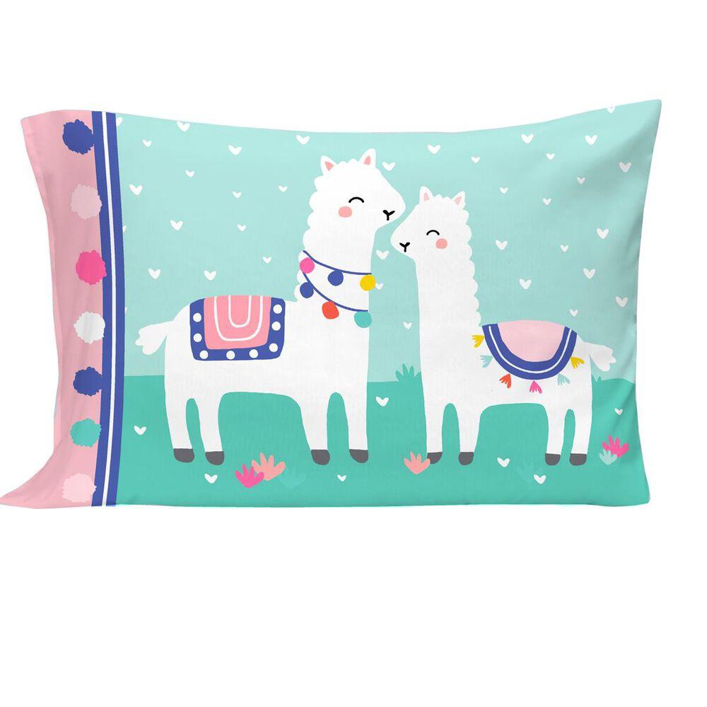 Crown Crafts Llama 4 Piece Toddler Bed Set, , large
