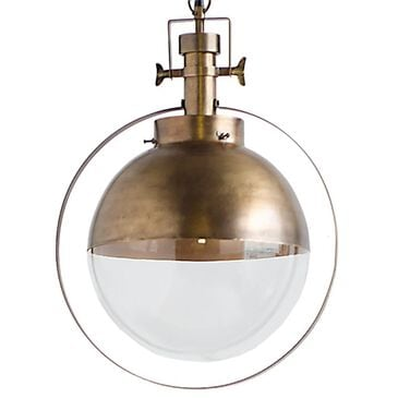 Mercana Leighton 1-Light Pendant in Antiqued Gold, , large