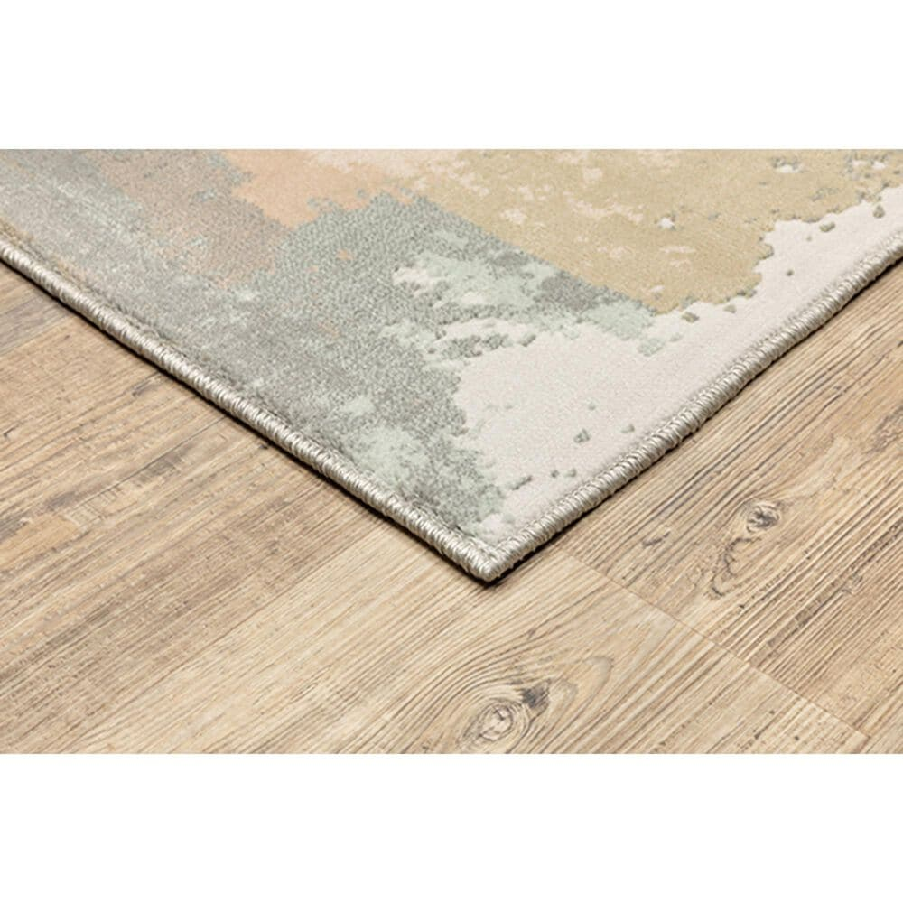 """Oriental Weavers Capistrano Abstract 536A1 7'10"""" x 10'10"""" Gray Area Rug, , large"""