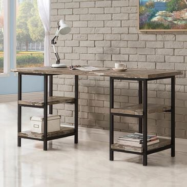 Pacific Landing Writing Desk in Salvaged Cabin and Black, , large