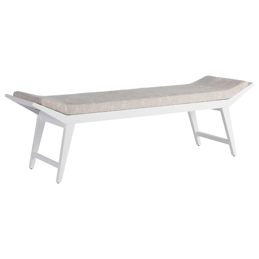 Furniture Worldwide Love Joy Bliss Bench in White Lacquer, , large