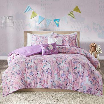 Hampton Park Lola 5-Piece Kid Full/Queen Comforter Set in Pink, , large
