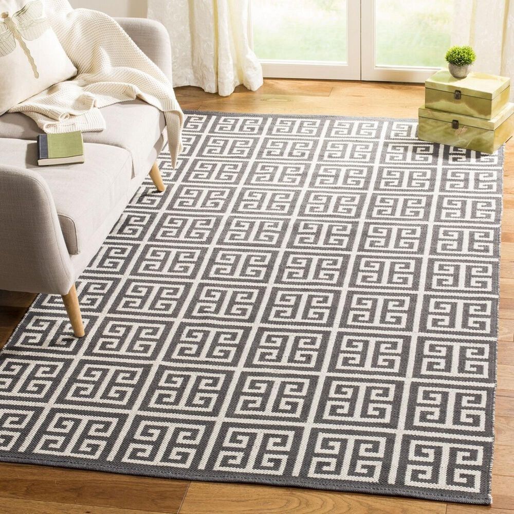 Safavieh Montauk  8' x 10' Dark Gray and Ivory Area Rug, , large