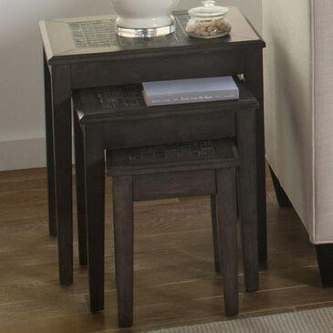 Waltham Gray Mosaic Nesting Table Set in Grey, , large