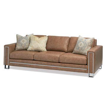 Massoud Leather Sofa in Saloon Tumbleweed, , large