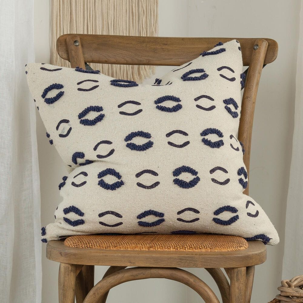"""Rizzy Home Donny Osmond 20"""" Pillow Cover in Navy, , large"""