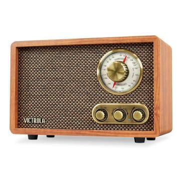 Victrola Retro Wood Bluetooth FM/AM Radio with Rotary Dial, , large
