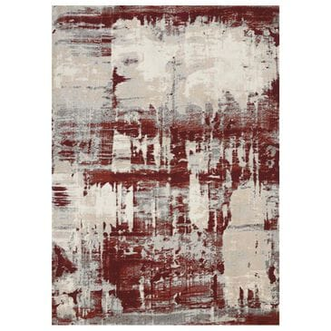 "Nourison Maxell MAE14 7'10"" x 10'6"" Ivory and Red Area Rug, , large"