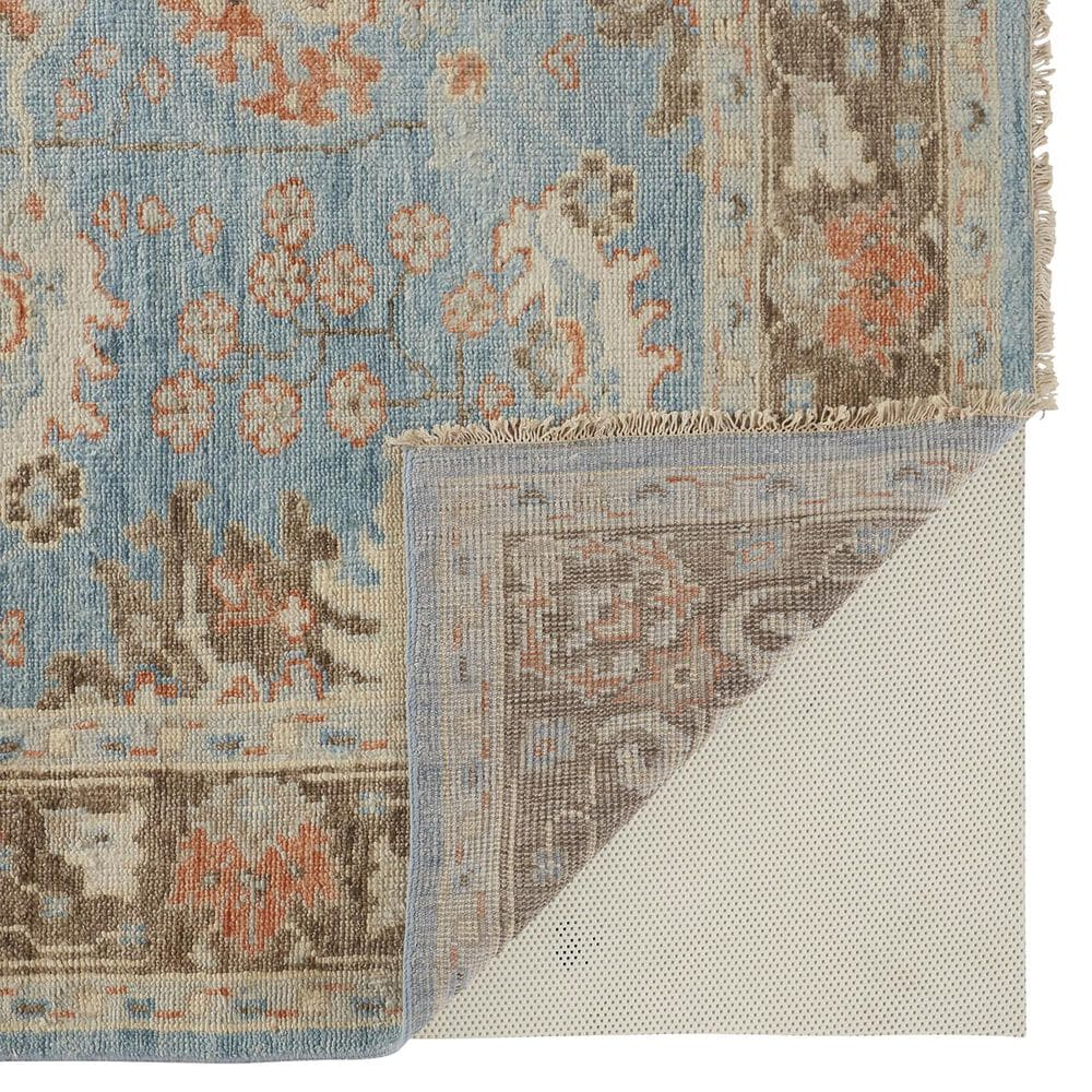 "Feizy Rugs Beall 2'6"" x 8' Blue and Brown Runner, , large"