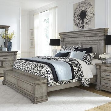 Chapel Hill Madison Ridge Queen Storage Bed in Bluff Gray, , large