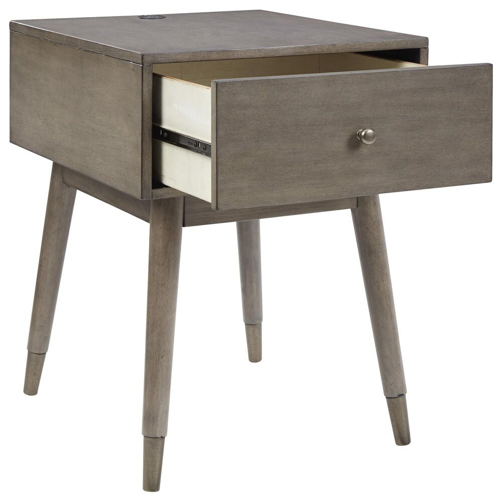 Signature Design by Ashley Paulrich Charging Accent Table in Antique Gray, , large