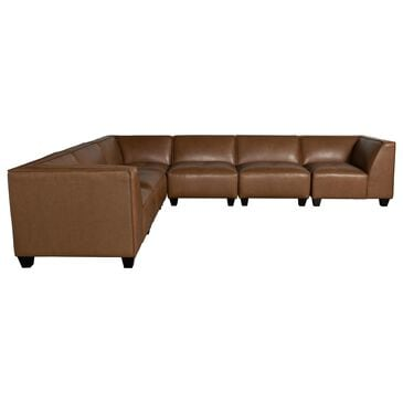 Devon and Claire Westwood 6-Piece Sectional In Camel, , large