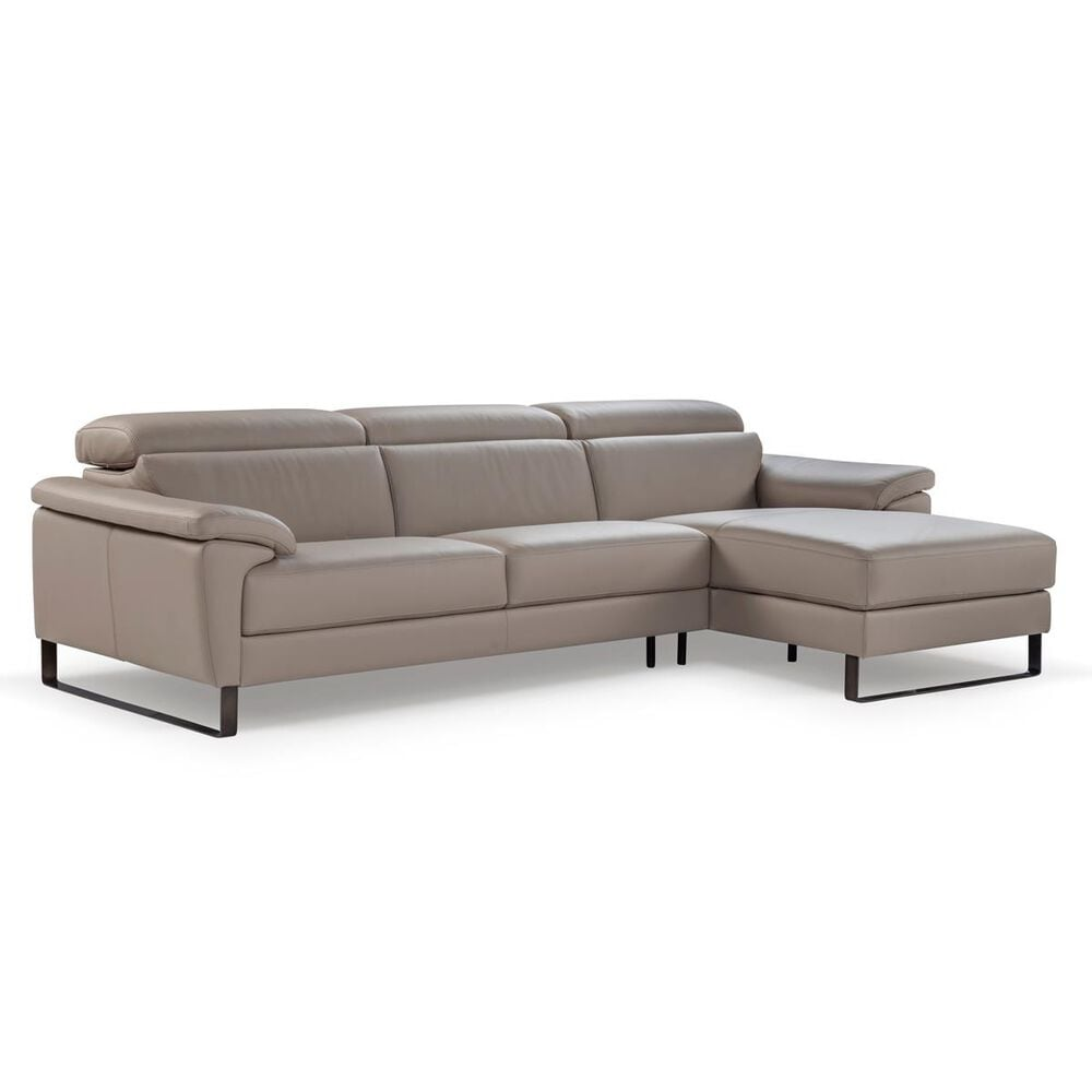 Nicoletti Calia Sofas Allegro 2-Piece Right Facing Sectional with Chaise in Brown, , large