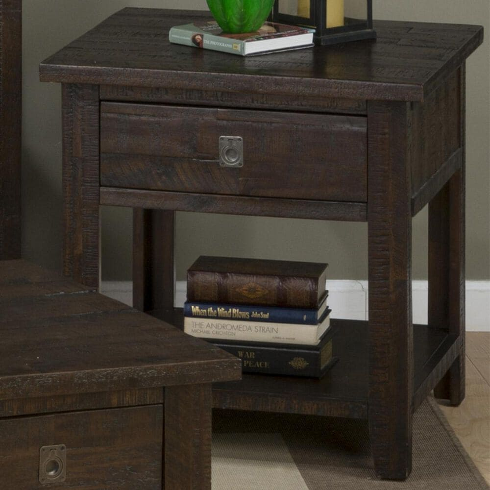 at HOME Kona Grove Square End Table in Chocolate, , large