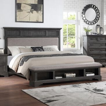 Frankfurt Furniture Prescott Queen Storage Bed in Gray Oak, , large