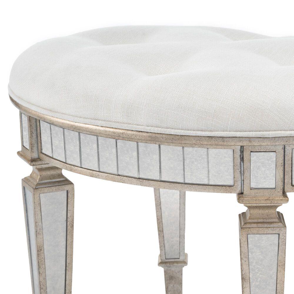 Butler Garbo Vanity Stool in Silver, , large